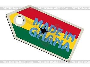 Label in Ghana - Vektor-Bild