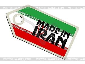 Label im Iran - Vector-Illustration