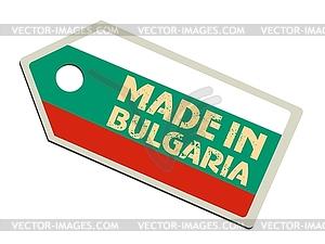 Label in Bulgarien - farbige Vektorgrafik