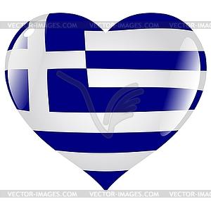 Herz mit Flagge von Griechenland - Vector-Clipart / Vektorgrafik