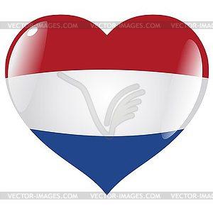 Herz mit Flagge Niederlande - Vector-Design