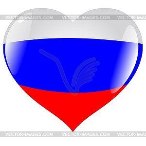 Herz mit Flagge von Russland - Vektor-Clipart / Vektorgrafik