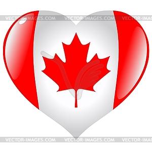 Herz mit Flagge von Kanada - Klipart
