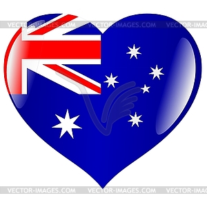 Herz mit Flagge von Australien - Stock-Clipart