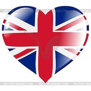 Herz mit Flagge von Großbritannien - Vector-Clipart / Vektorgrafik