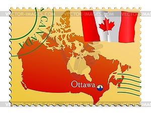 Ottawa - Hauptstadt von Kanada - Vector-Bild
