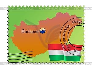 Budapest - Hauptstadt von Ungarn - vektorisiertes Bild