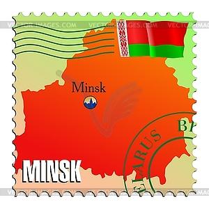 Minsk - Hauptstadt von Belarus - Vektor-Clipart / Vektorgrafik