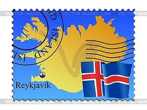 Reykjavik - Hauptstadt von Island - vektorisierte Grafik