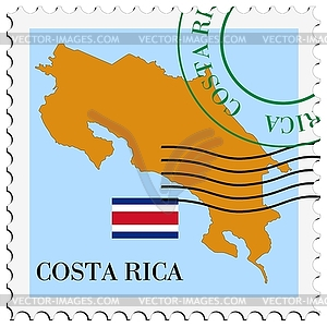 Mail to-from Costa Rica - vector image