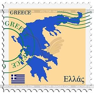 Mail to-aus Griechenland - Vector-Design