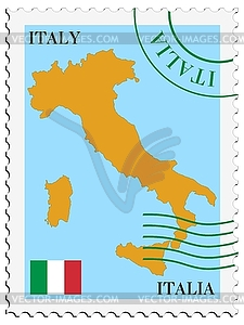 Mail to-aus Italien - Vektor-Clipart EPS