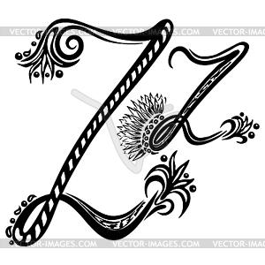 Buchstaben Z z - Vektor-Clipart