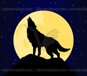 Волк воет картинки