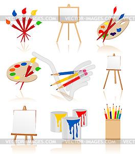 Icons von Künstler - Vector-Clipart / Vektor-Bild