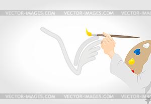Künstler - farbige Vektorgrafik