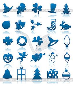 Feierliche Icons - Vektorabbildung