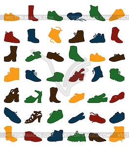 Alte Schuhe - Vector-Clipart / Vektor-Bild