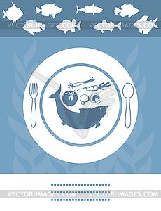 Fisch-Menü - Vektor-Abbildung