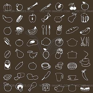 Lebensmittel-Icons - Klipart