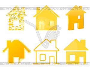 Haus-Icons - Vektor-Abbildung