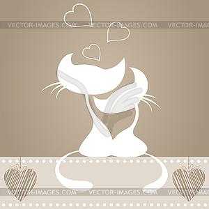 Verliebte Katzen - Vector-Illustration