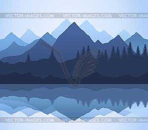Berge - vektorisiertes Design