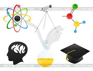 Wissenschaft-Icons - Vektor-Klipart