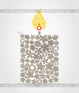Brennende Kerze - Vektor-Clipart / Vektorgrafik