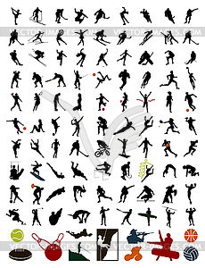 Silhouetten von Sportlern - Vector-Illustration