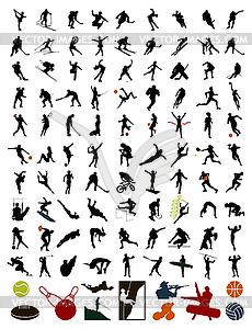 Silhouetten von Sportlern - Vector-Illustration