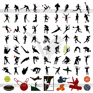 Silhouetten von Sportlern - Vektor-Clipart / Vektorgrafik