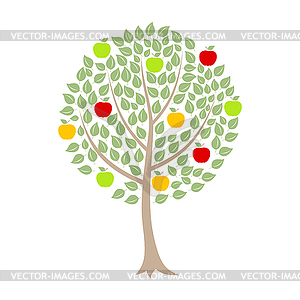 Apfelbaum - Vektorgrafik