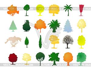 Versammlung der Bäume - vektorisierte Grafik