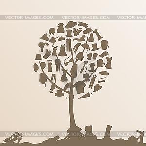 Kleidungs-Baum - Vektor-Clipart EPS