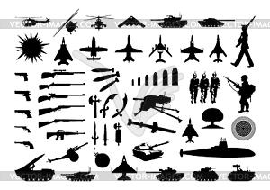 Militär-Kollektion - Vektor-Klipart