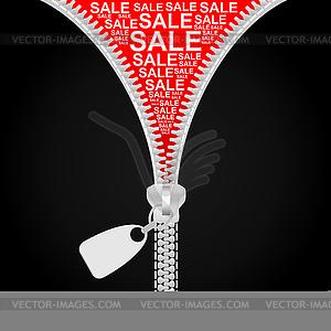 Verkauf der Bekleidung - vektorisierte Abbildung