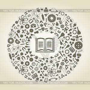 Buch der Wissenschaften - Vector Clip Art