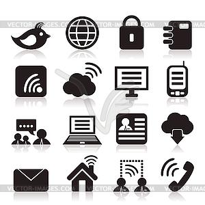 Kommunikation-Icons - vektorisierte Abbildung