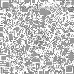 Möbel-Hintergrund - schwarzweiße Vektorgrafik