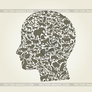 Kopf eines Tieres - Vektor-Design