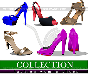 Modische Frauen-Schuhe - Vektor-Abbildung