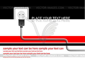 Poster mit Netzstecker - Vektor-Bild