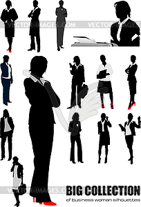 Große Sammlung von Silhouetten der Business-Frauen - vektorisiertes Clipart