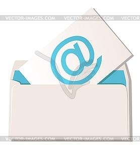 Briefumschlag mit E-Mail-Symbol - Vector-Clipart