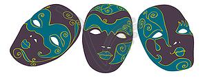 Karneval-Maske - Vektor-Clipart / Vektorgrafik