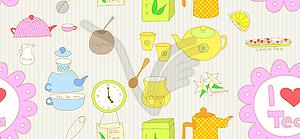 Seamless Tee doodle - vektorisiertes Clip-Art