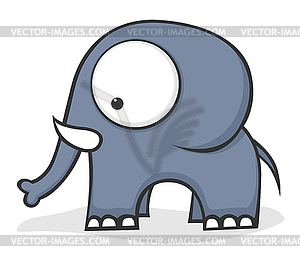 Großäugiger Elefant - Royalty-Free Clipart