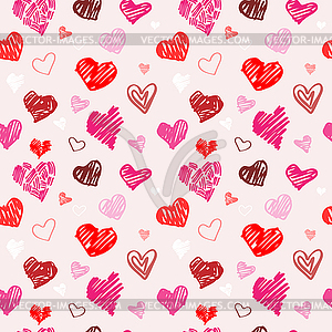 Liebe, Muster, Textur - Royalty-Free Vektor-Clipart
