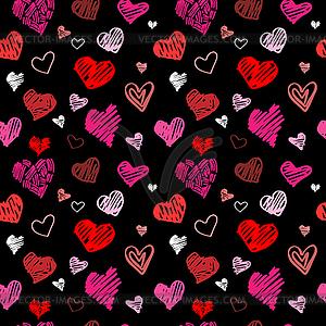 Liebes-Muster - Stock Vektorgrafik